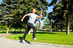 Guy jogging Stock Photos