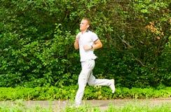 Guy jogging Royalty Free Stock Image