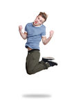 Guy jumping Stock Photos