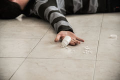 Guy killed by overdose Stock Images