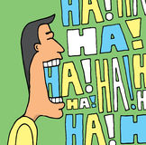 Guy laughing out loud Royalty Free Stock Images