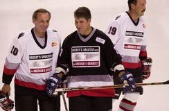Guy Lefleur and Ray Bourque. Royalty Free Stock Image