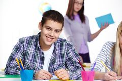 Guy at lesson Stock Image