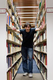 Guy At the Library Royalty Free Stock Photography