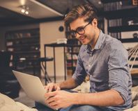 Guy in the library Stock Image