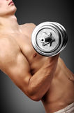 Guy lifting dumbbell Royalty Free Stock Photos