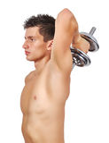 Guy lifting dumbbell Stock Image