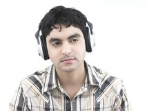 Guy listening to some music Royalty Free Stock Photography