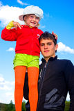 Guy and little girl Stock Photography