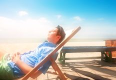 The guy in the lounge Royalty Free Stock Photos