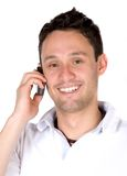 Guy making a phone call Royalty Free Stock Photography