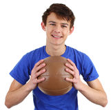 A guy with a medicene ball Stock Image