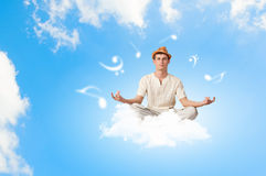 Guy meditating Royalty Free Stock Images