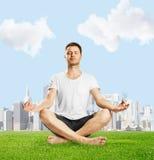 Guy meditation Royalty Free Stock Images