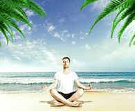 Guy meditation Royalty Free Stock Photo