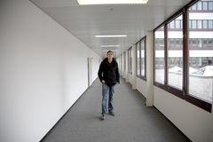 Guy in modern building Royalty Free Stock Photography