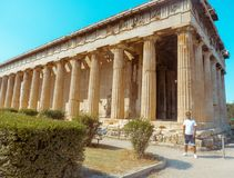 Guy in the Museum of ancient Greece royalty free stock image