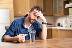 Guy not feeling great today Royalty Free Stock Photography