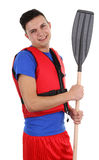 Guy with an oar Stock Photography