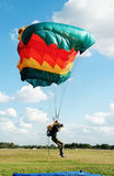 The guy-parachutist  in camouflage overalls Royalty Free Stock Photography