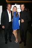 Guy Pearce, Piper Perabo, William Fichtner. William Fichtner with Piper Perabo and Guy Pearce at the Los Angeles premiere of First Snow. The Writers Guild Royalty Free Stock Photo