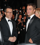 Guy Pearce & Robert Pattinson. CANNES, FRANCE - MAY 18, 2014: Guy Pearce & Robert Pattinson at the gala premiere of their movie The Rover at the 67th Festival de Stock Photography