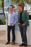 Guy Pearce & Robert Pattinson. CANNES, FRANCE - MAY 18, 2014: Guy Pearce (left) & Robert Pattinson at the photocall for their movie The Rover at the 67th Royalty Free Stock Images