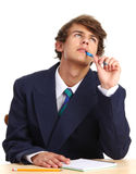 Guy with a pen Royalty Free Stock Image
