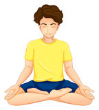 A guy performing yoga. Illustration of a guy performing yoga on a white background Royalty Free Stock Photos