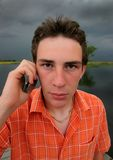 Guy phoning Stock Photos