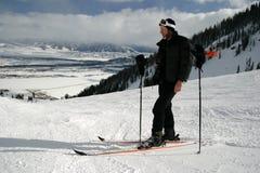 guy photographer ski 免版税库存图片