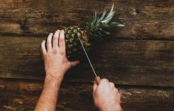 Guy with pineapple Stock Photos