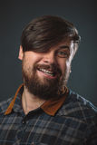Guy in a plaid shirt Royalty Free Stock Image