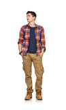 Guy in a plaid shirt Stock Photos