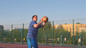 Guy Play Basketball stock video footage