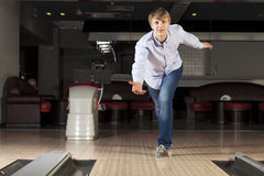Guy playing bowling Stock Images