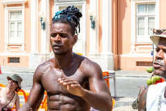 Guy playing Capoeira in Salvador, Brazil Stock Images