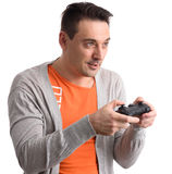 Guy playing computer game Stock Photography