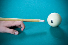 The guy plays billiards Stock Photo
