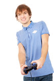 The guy plays video games Royalty Free Stock Image