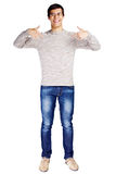 Guy pointing at himself with fingers Royalty Free Stock Photo