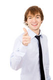 The guy points to you, dressed in a shirt and tie Royalty Free Stock Photography