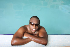 Guy In A Pool Royalty Free Stock Image