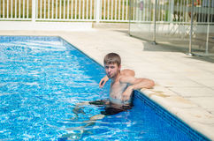 The guy in the pool Stock Photos