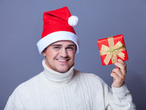 Guy with present Royalty Free Stock Images
