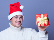 Guy with present Stock Image