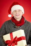 Guy with present Stock Photography