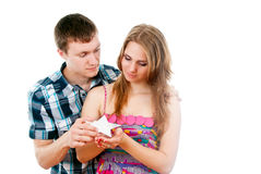 Guy pulls out a star for his girl Royalty Free Stock Images