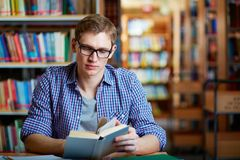Guy reading Stock Photo