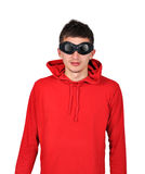 Guy with red hoodie Stock Photo